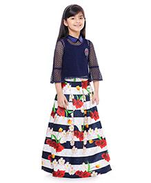 Tiny Baby Skirt Top Set - Blue