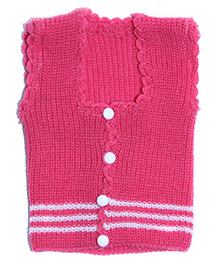 Soft Tots Attractive Front Open Vest - Pink