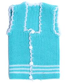 Soft Tots Attractive Front Open Vest - Blue