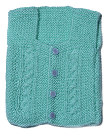 Soft Tots Attractive Sleeveless Vest - Mint Green