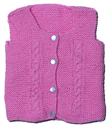 Soft Tots Attractive Sleeveless Vest - Pink