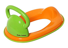 Fab N Funky Baby Toilet Seat with Handle Green
