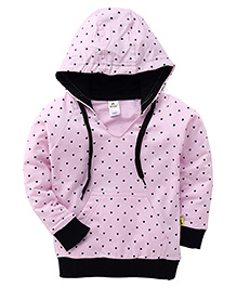 Tiny Bee Polka Dot Hooded Jacket - Pink & Black