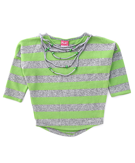 Play by Little Kangaroos Long Sleeves Top - Green And Grey
