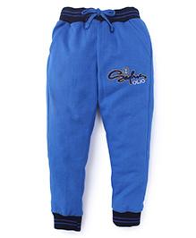 Olio Kids Printed Track Pants With Drawstring - Royal Blue