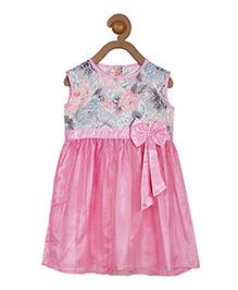 Campana Sleeveless Dress With Floral Print - Pink