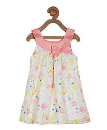 Campana Sleeveless A Line Dress -  White Peach