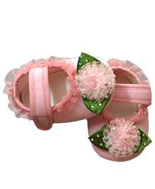 Daizy Little Princess Flower Booties - Pink