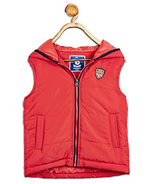 612 League Sleeveless Hooded Jacket - Red