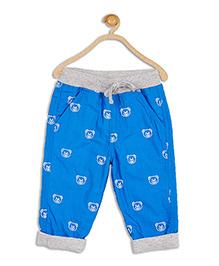 612 League Teddy Print Poplin Pant - Blue