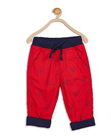 612 League Teddy Print Poplin Pant - Red