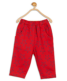612 League Star Printed Leggings With Pockets - Dark Red