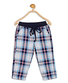 612 League Check Leggings With Pockets - Navy