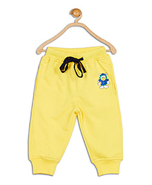 612 League Solid Color Joggers With Patch - Yellow