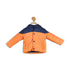 612 League Full Sleeves Winter Jacket - Navy Orange