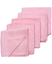 Tinycare Square Cloth  Baby Nappy Extra Large - Set Of 5