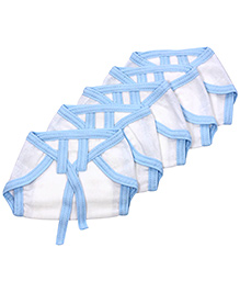 Tinycare Baby Nappy Blue New Born - Set of 5