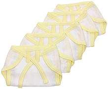 Tinycare Baby Nappy YeaTinycare Baby Cloth Nappy Comfy Junior New Born - Set of 5llow New Born - Set of 5