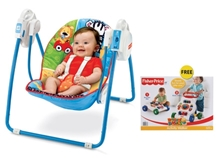 Fisher Price - Adorable Animals Take Along Swing with Free Gift
