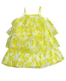 Young Birds Layered Chiffon Dress - Yellow