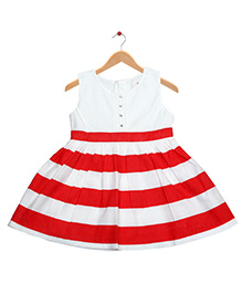Young Birds Stripe Dress - Red & White