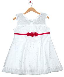 Young Birds Mesh Dress - White