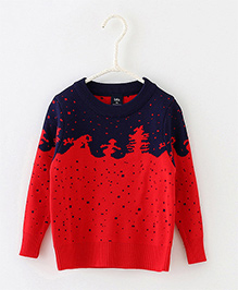 Dells World Fashionable Sweater - Red