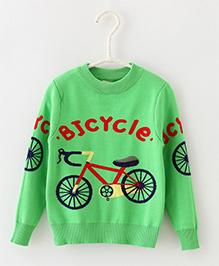 Dells World Fashionable Sweater - Green