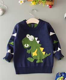 Dells World Dinosaur Print Sweater - Blue