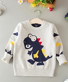 Dells World Dinosaur Print Sweater - Grey