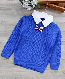 Dells World Fashionable Sweater - Blue