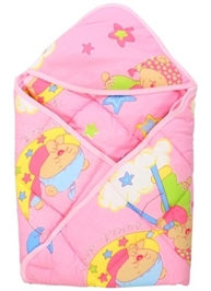 Tinycare - Hooded Baby Wrapper Star Print