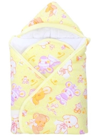 Tinycare - Hooded Baby Wrapper Yellow