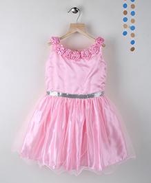 Winakki Kids Sleeveless Girls Party Dress - Pink