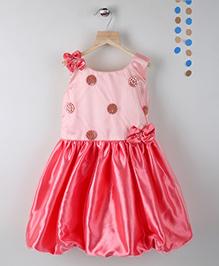 Winakki Kids Sleeveless Girls Party Dress - Dark Peach
