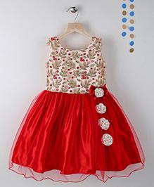 Winakki Kids Sleeveless Girls Party Dress - Red