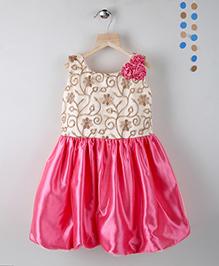 Winakki Kids Sleeveless Girls Party Dress - Dark Pink