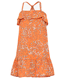 Miyo Singlet Polyester Dress - Orange