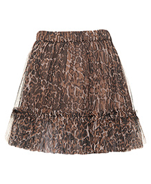 Miyo Printed Polyester Skirt - Multicolour