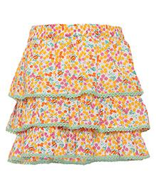 Miyo Printed Cotton Skirt - Multicolour