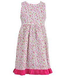 Miyo Sleeveless Printed Dress - Multicolor