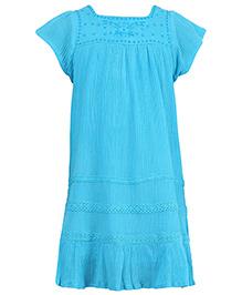 Miyo Trendy Cotton Dress - Blue