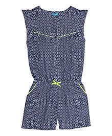 Miyo Sleeveless Cotton Jumpsuit - Blue