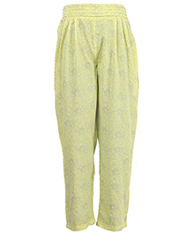 Miyo Attractive Print Leggings - Yellow