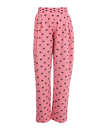 Miyo Attractive Print Rayon Leggings - Pink