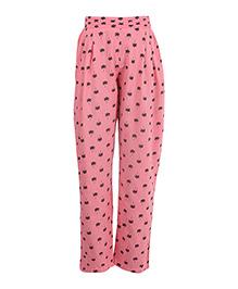 Miyo Attractive Print Rayon Leggings - Pink