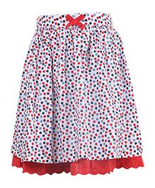 Miyo Polka Dot Print Cotton Skirt - Multicolour