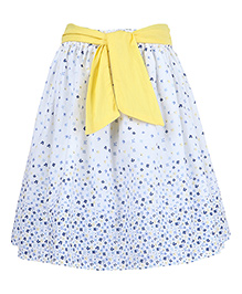 Miyo Attractive Print Cotton Skirt - Multicolour