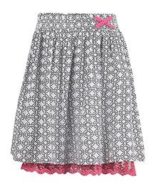 Miyo Attractive Cotton Skirt - Grey & Black