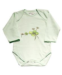 Kiwi Printed Full Sleeves Onesie - Mint Green